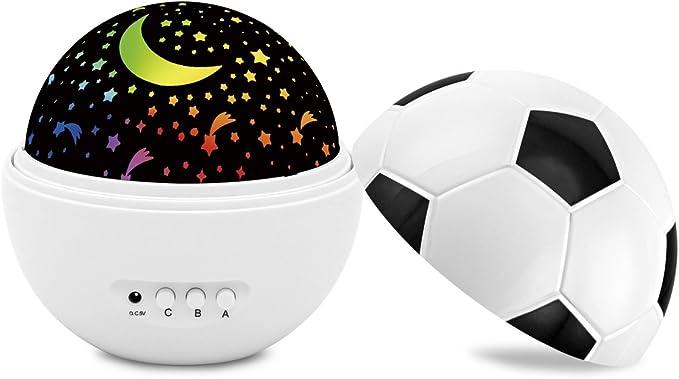 Proyector de luz nocturna para bebé, luces de noche de fútbol para ...