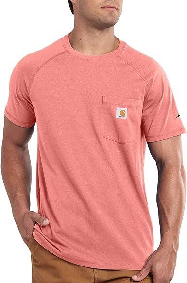 Carhartt Mens Force Cotton Delmont Short Sleeve T-Shirt