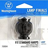 Westinghouse 7000400 Semi-Ornate Lamp Finial, Oil Rubbed Bronze