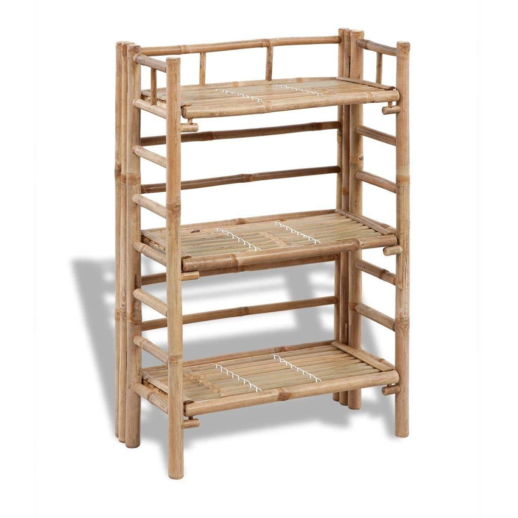 3-Tier Bamboo Plant Rack (Ship from US) by WWHZ