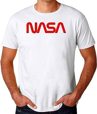 NASA New Logo Camiseta para Hombres: Amazon.es: Ropa y accesorios