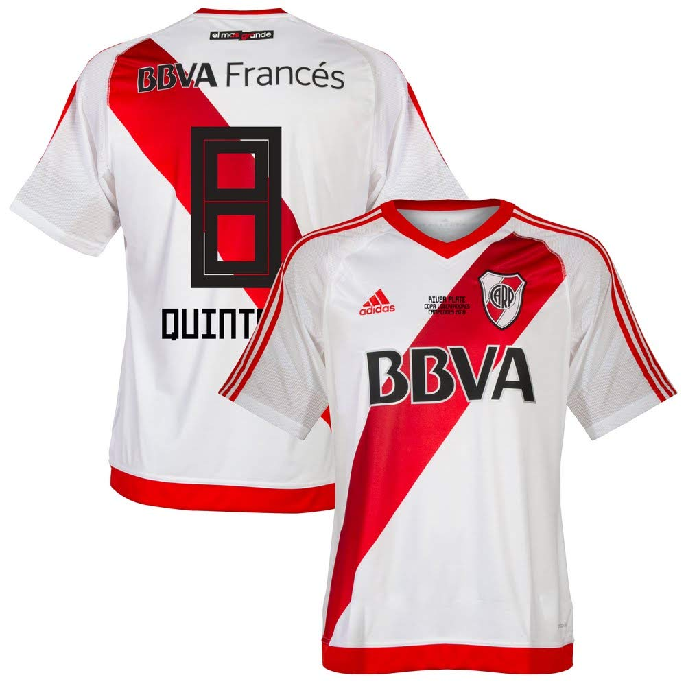 River Plate Home Trikot 2016 2017 + Quintero 8 (2018 Fan Style Beflockung)