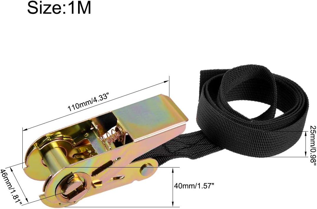 25 mm breit bis 250 kg Sourcing Map Spanngurt einziehbar