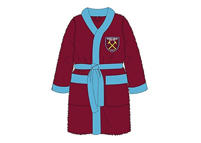 Mens Official Football Club Fleece Dressing Gown//Robe Size Small Medium Large XL
