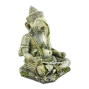 Gankmachine Decoración de Tanque de Peces de Acuario Cabeza de Elefante Simulación de Buda de los Antiguos Dioses: Amazon.es: Hogar