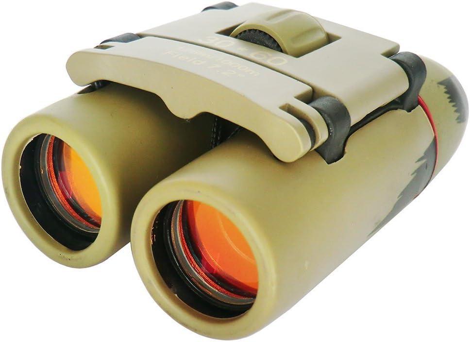 TKSTAR - Prismáticos Plegables (30 x 60 mm, con visión Nocturna, para Caza Clara, Perro, señal de señalización, S30X60), Color Verde y Rojo