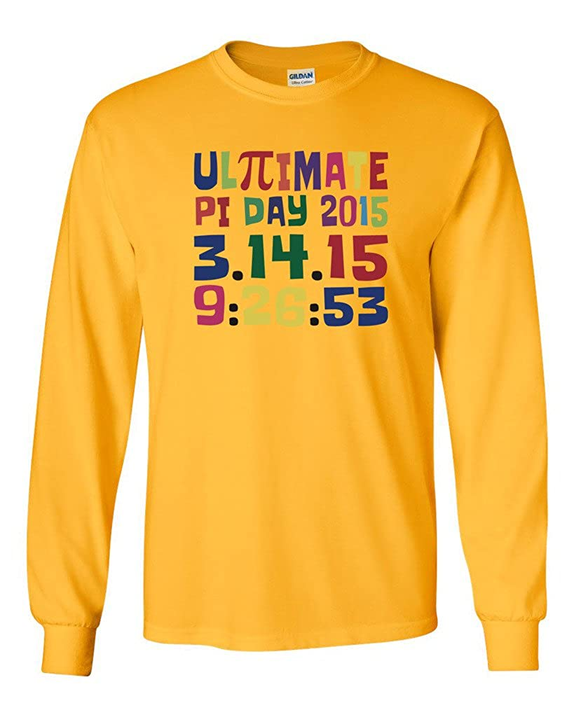 5d1e0193a Amazon.com: Long Sleeve Adult T-Shirt Ultimate Pi Day 3.14 Color up Math  Funny DT: Clothing