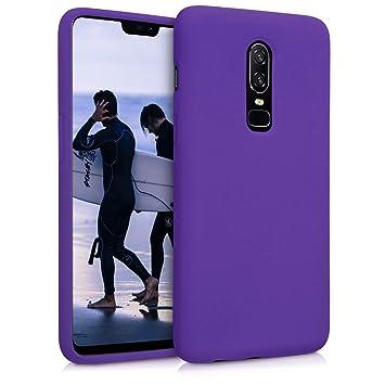 kwmobile Funda para OnePlus 6 - Carcasa de TPU para teléfono móvil - Cover Trasero en Violeta