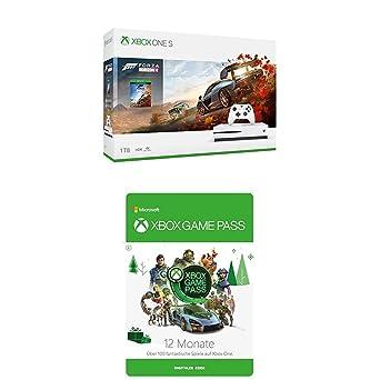Xbox One S 1TB Forza Horizon 4 Bundle + Xbox Game Pass 12 Monate Mitgliedschaft