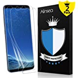 Galaxy S8 Screen Protector, Alinsea Galaxy S8 Screen Protector Case Friendly Compatible Bubble Free Full Coverage Non Glass Plastic Ultra Wet Applied Film for Samsung Galaxy S8 (2-Pack)
