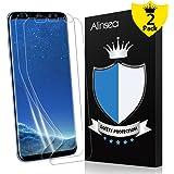 Galaxy S8+ Plus Screen Protector, Alinsea Galaxy S8 Plus Screen Protector [Case Friendly] [Bubble-Free] [Anti-Scratch] [No Lifted Edges] Non Glass Plastic