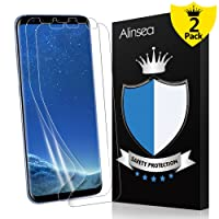 Galaxy S8 Screen Protector, Alinsea Galaxy S8 Screen Protector [Case Friendly] [Bubble Free] [Touch Sensitive] Not Glass Ultra Thin Wet Applied Film for Samsung Galaxy S8 (2-Pack)