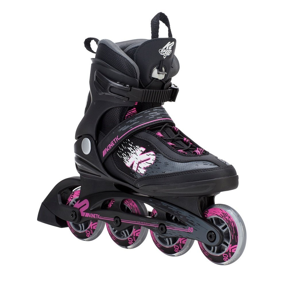 K2 Skate Women's Kinetic 80 Pro Inline Skate, Black Pink, 9 by K2 Skate
