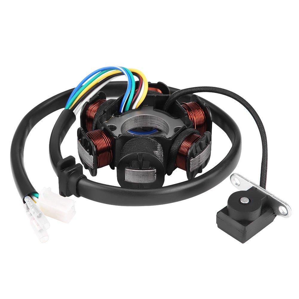Qiilu 6 Bobina de Encendido Estador Magneto para GY6 50 110 150 CC Patinete Moped Go Kart ATV