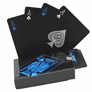 Black Plastic PVC Poker Waterproof Magic Playing Cards Table Game