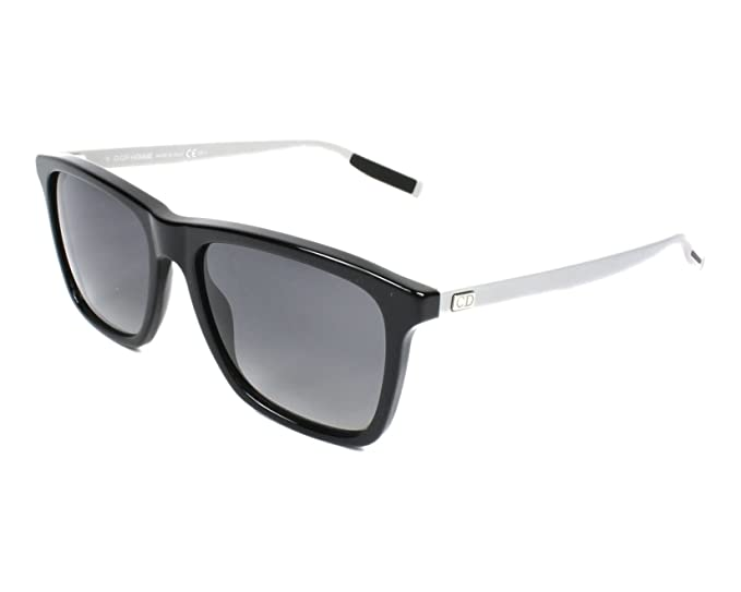 0ecca1dd356ea Dior Homme 177S FB8 Matte Black and silver 177S Wayfarer Sunglasses  Polarised L