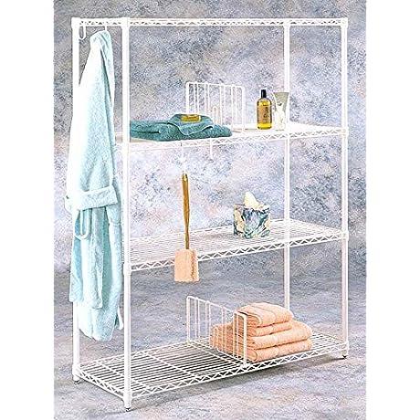 Towel Wire Shelf W Hooks
