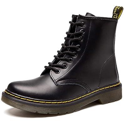 b8a494b5f7e2b4 JACKSHIBO Damen Herren Klassischer Stiefeletten Stiefel Boots Winter Warme  Gefüttert Winterstiefel Schneestiefel Winterschuhe