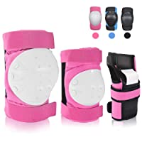 curious kid Adult/Youth Knee Pads Elbow Pads Wrist Guards,3 in 1Protective Gear Set for Sports Skateboarding,Rollerblading Cycling Roller Skating Snowboarding(S/M/L)
