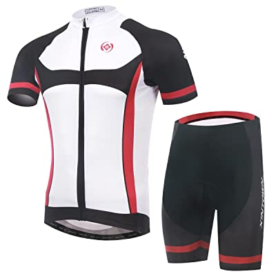 Été Cycling Jersey hommes, manches courtes Padded 3D short vêtements Sportswear respirant séchage rapide de vélo vélo