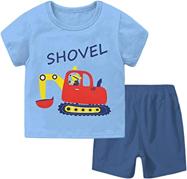 Boys/' shorts  shirt set from 1 to 12 years