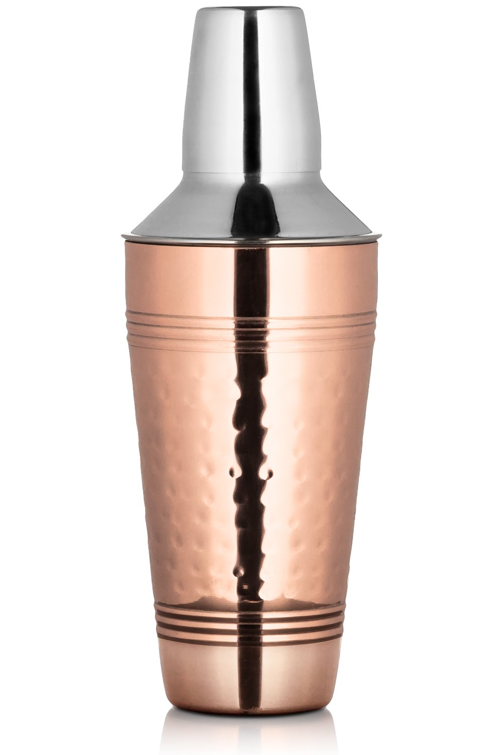 Chef's Star 25.3 oz ( 750 ml ) Handmade Hammered Copper Cocktail Shaker