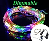 Zzmart Dimmable 12V 50ft 150 Leds String Lights with Wireless Remote Control-- Waterproof Flexible Copper Wire, Holiday Decorative LED Lights for Outdoor and Indoor (1, Muticolor)