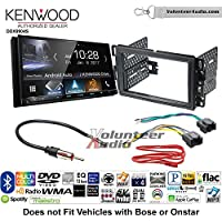 Volunteer Audio Kenwood DDX9904S Double Din Radio Install Kit with Apple CarPlay Android Auto Bluetooth Fits 2007-2013 Silverado, Avalanche