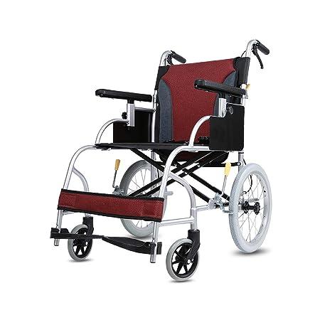 silla de ruedas Manual Liviana, Doble Freno Trasero Plegable ...