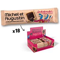 Michel et Augustin Gourmet Chocolate Cookie Squares   Individually Wrapped European Cookie Bars   Dark Chocolate & Sea…