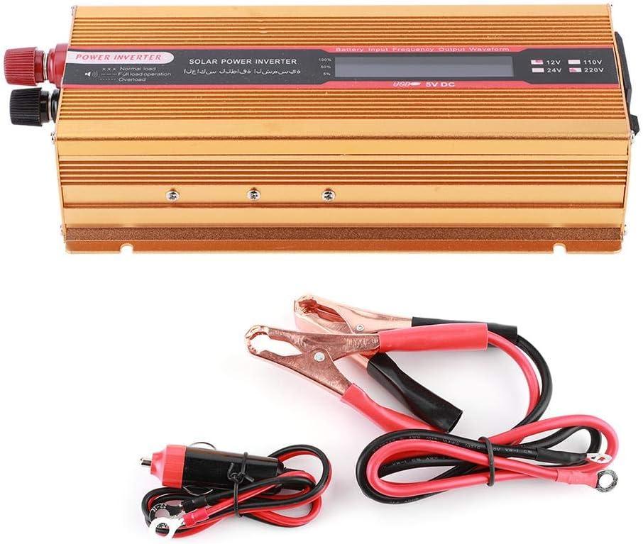 AC110V Inversor de corriente para autom/óvil 6000W DC12V a AC Inversor de corriente Convertidor de voltaje con pantalla LCD Convertidor de onda sinusoidal modificada Cargador de autom/óvil