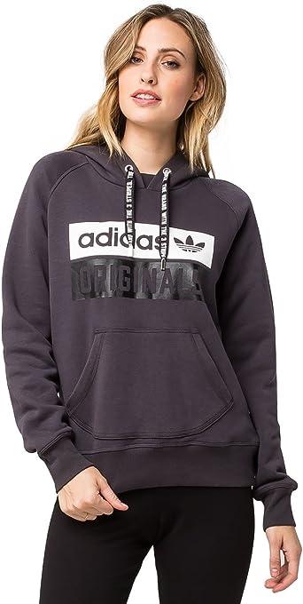 adidas Originals Women's Outerwear Hoodie, Shadow Black