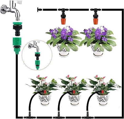30M Sistema de riego para jardín, kit de riego por goteo Riego ...