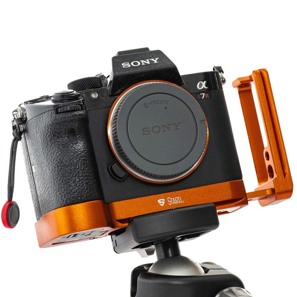 New Upgrade 2019 Stabil LSIII - L Plate (Bracket) for Sony A7RIII; A7III & A9 (Orange) by Bombo