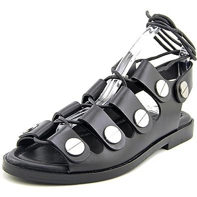 fe8d6c7d830 Alexander Wang Patricia Women US 10 Black Gladiator Sandal  Amazon ...