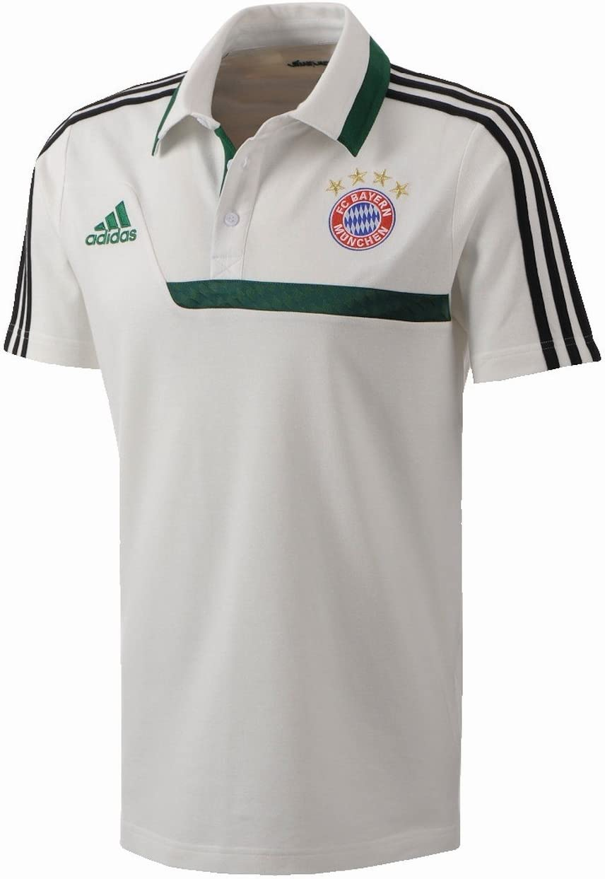 adidas FC Bayern München – Polo para hombre blanco/verde: Amazon ...