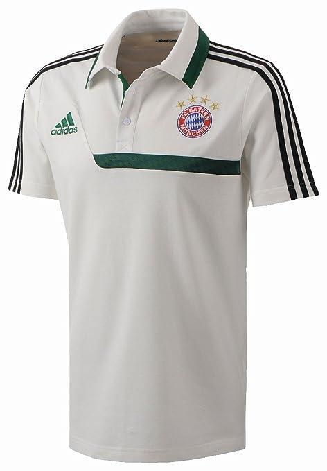 adidas FC Bayern München - Polo para hombre blanco/verde: Amazon ...