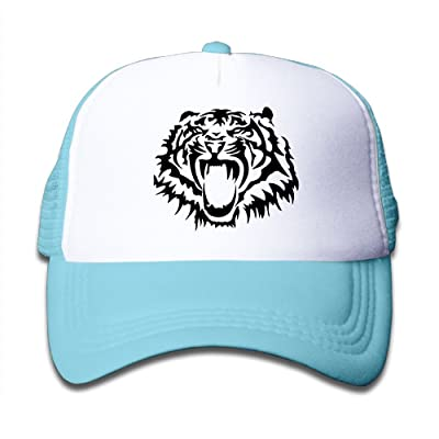 BKids AccE-Hat Angry Tiger Adjustable Mesh Baseball Hats/Back Sun Visor Cap For Youth Girls Boys