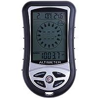 Boussole électronique portable 8en 1 Everpert - Altimètre, baromètre, thermomètre, prévisions météo, heure