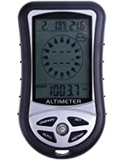 Everpert 8 in 1 Electronic Handheld Compass Altimeter Barometer Thermometer Weather Forecast Time