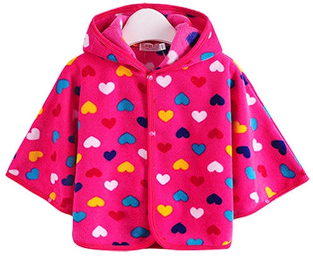 Emoyi Baby Kids Toddler Wear Hooded Cape Cloak Poncho Hoodie Coat
