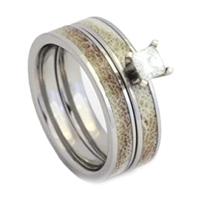unique deer titanium with inlays wedding view available jewelrybyjohan ring product included carbon ext rings shop between engraving jewelry handmade fiber antler inlaid band armor