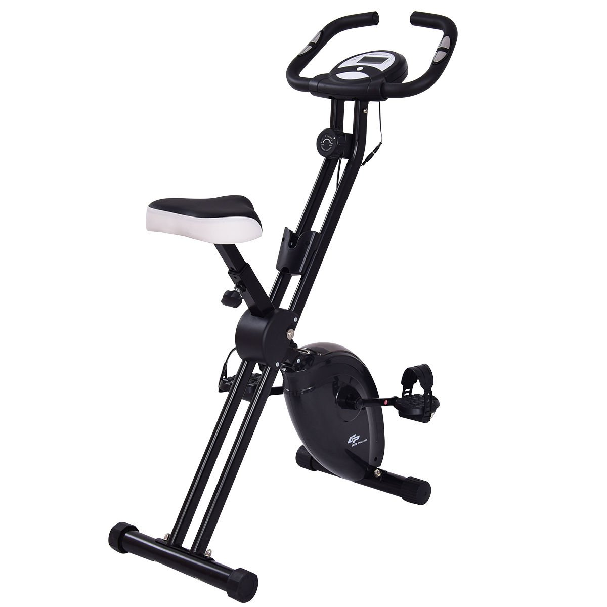 GOPLUS Magnetic Resistance Upright Bike Flywheel Bike Cardio Fitness Bicycle Equipment (Black)