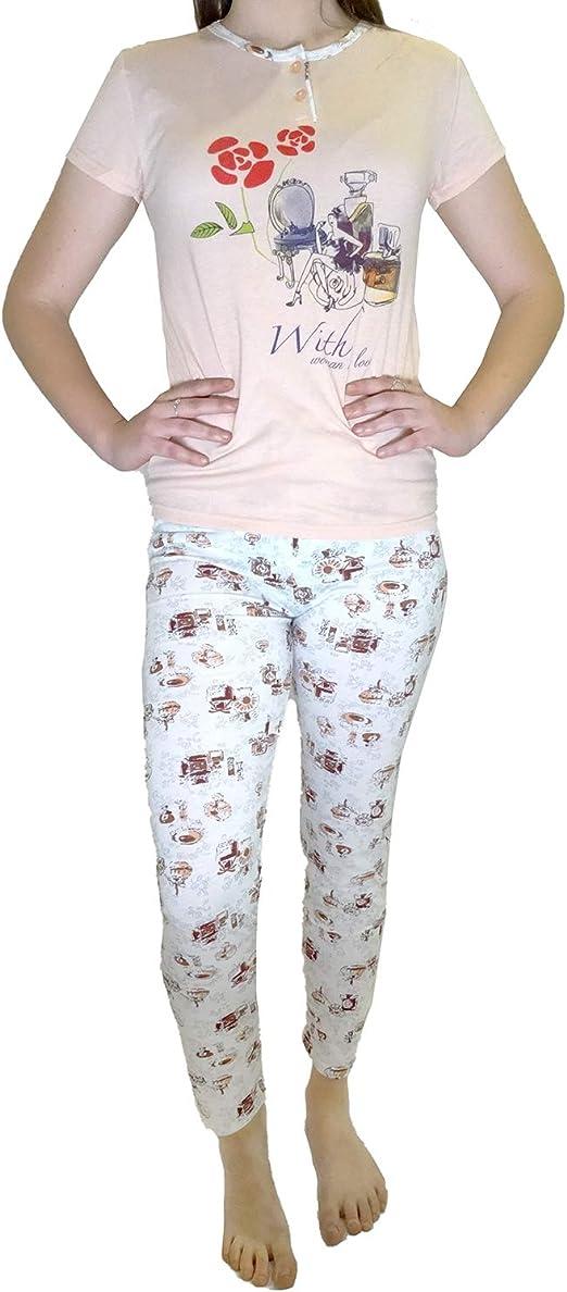 Mini kitten - Pijama de Mujer Joven con Pantalones de Malla y ...