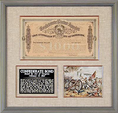 The Confederate States - Bond Signed March 1, 1864 - Co-signer: E. Apperson