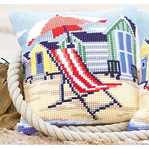 Vervaco On the Beach Pillow Cover or Picture Cross Stitch Ki