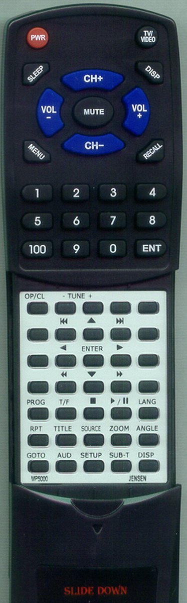 Replacement Remote Control for JENSEN DV2011 MAIN, PSVCDV2011, MEDIA PRO 5000, MP5000