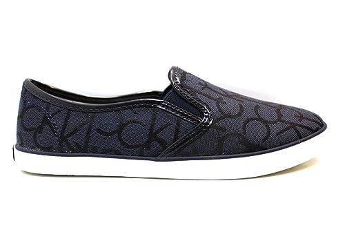 Calvin Klein Jeans Raz CK LOGO JACQUARD/PATENT, low-top zapatillas deportivas de mujer, color Multicolor, talla S: Amazon.es: Zapatos y complementos