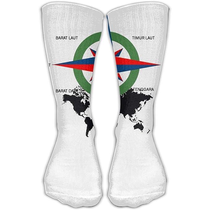 Amazon Com Design Gambar Arah Mata Angin Kompas Stylish Art Boots
