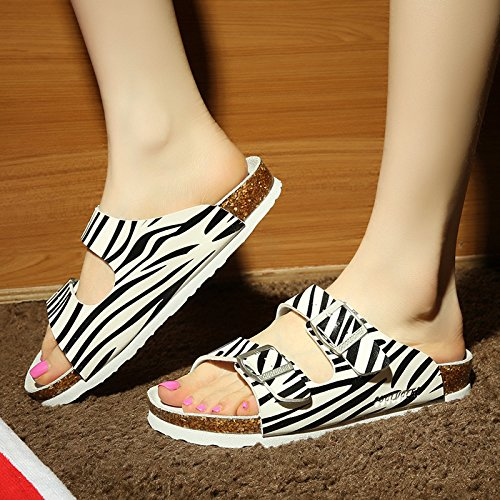 coppie Uomini 40 pantofole zebra pantofole anti cool di una skid grandi ciabatte numeri tide fankou estate femmina gqvdwxUU
